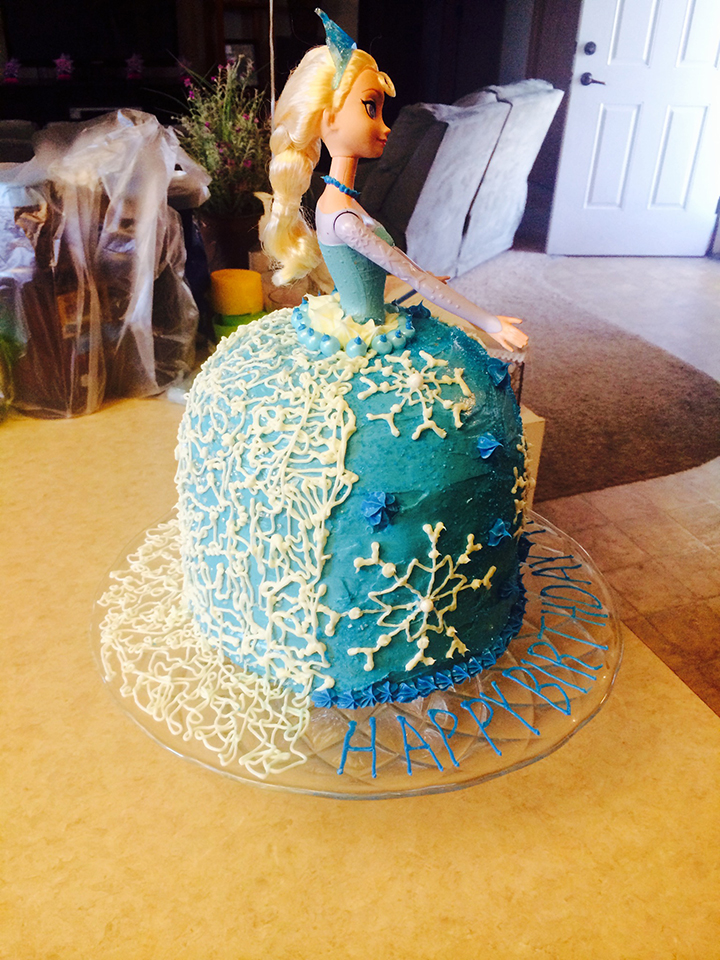 Barbie Cake Frozen Theme 4
