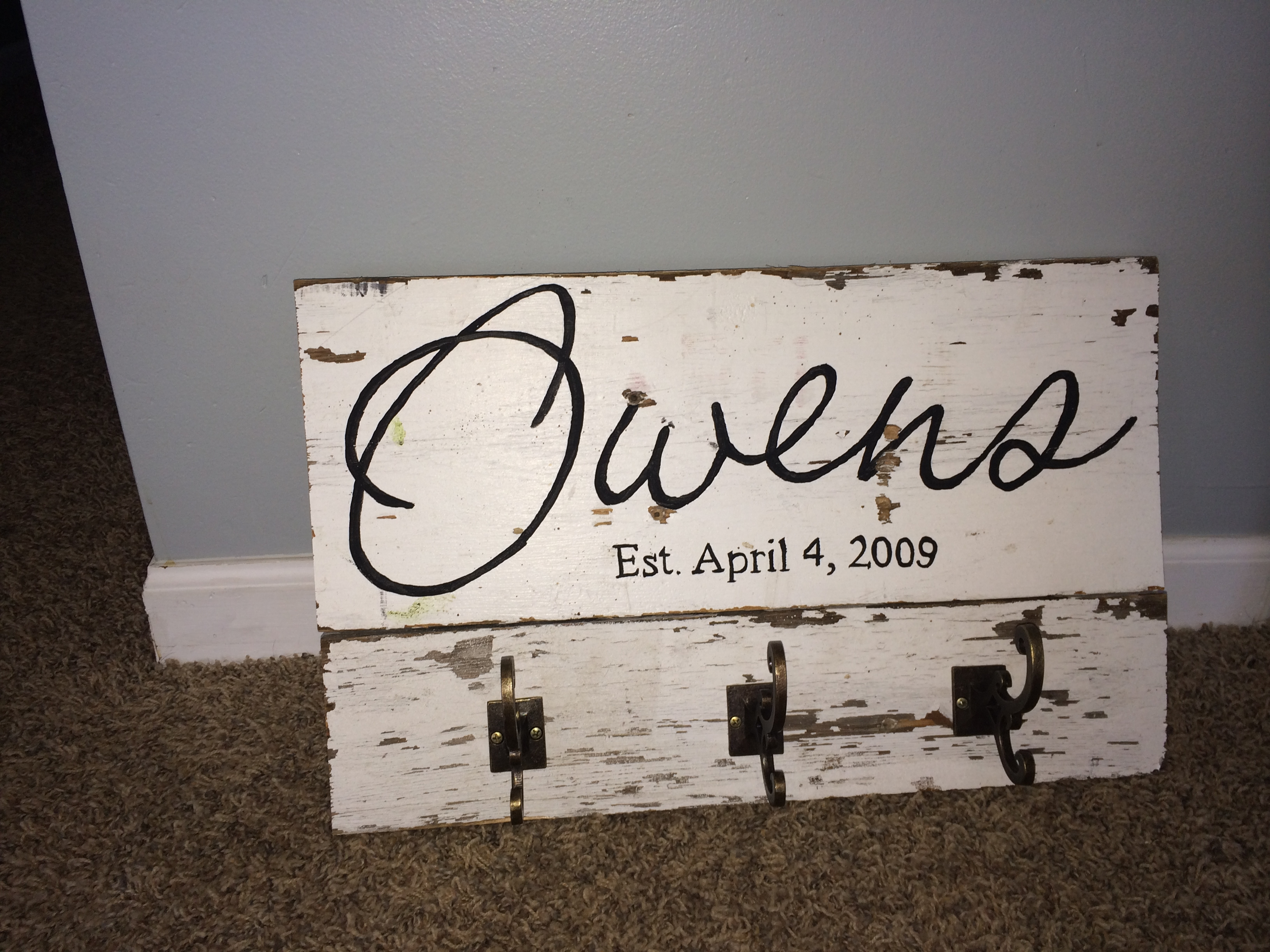 Custom name key holder- owens2